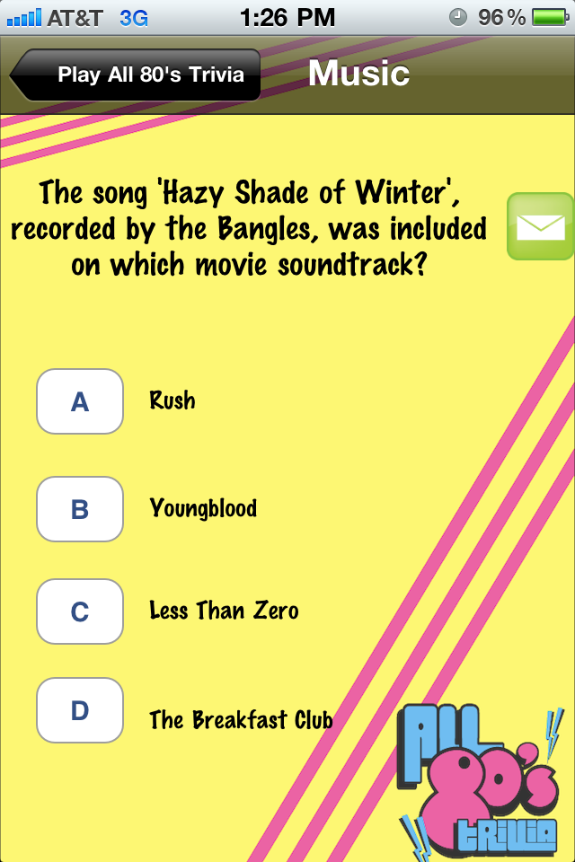 Screenshot All 80's Trivia